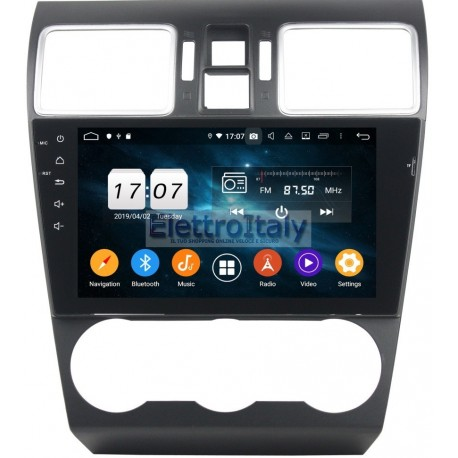 Navigatore Subaru WRX 2016 9 Pollici 4Gb Android 10 WiFi