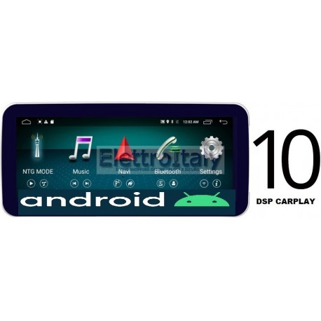 Cartablet Navigatore 10 pollici Mercedes Classe A CLA GLA CLS NTG 5x Android