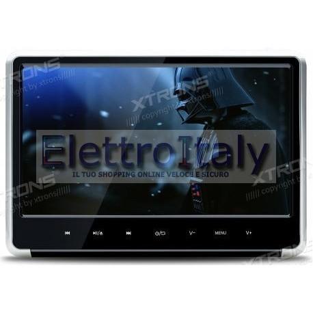 Monitor 11.6 pollici FULLHD HDMI da poggiatesta con DVD