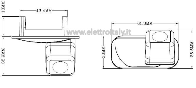 Telecamera luce targa Mercedes Classe A e B MOD.9949